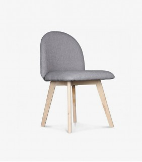 Chloe Cantilever Chair in Black Colour